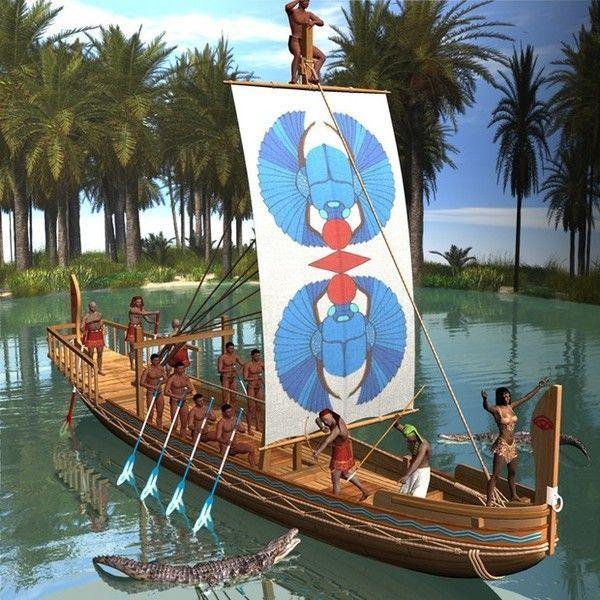 Préhistoire - Navire égyptien antique