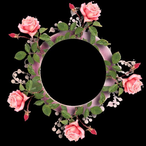Cadre pour création - Entouré de roses