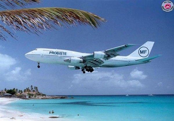 Avion blanche de l'Île - Vu sur Humour.com