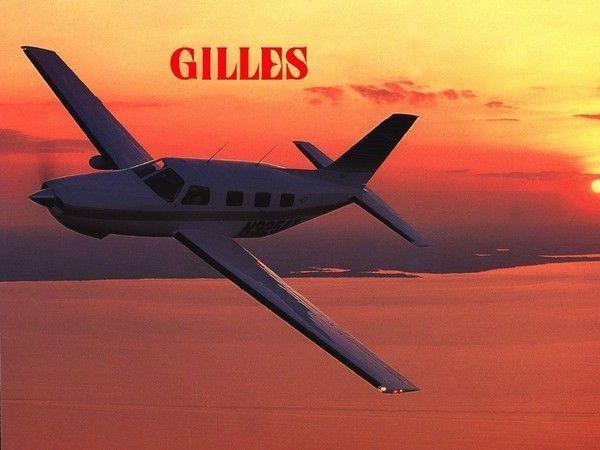 Prénom Gilles - Avion