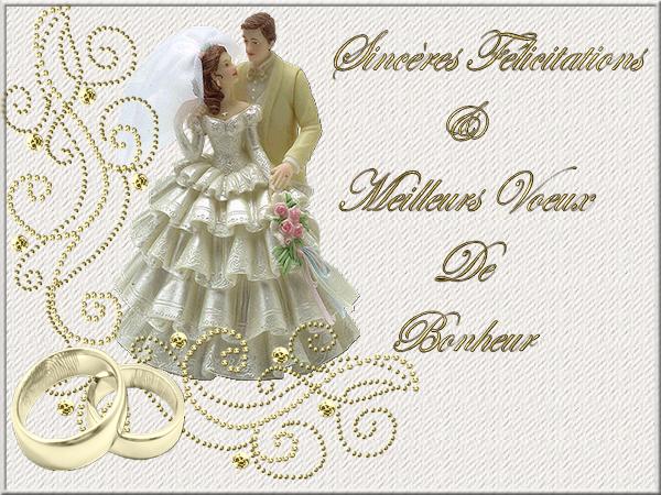 sincres flicitations et meilleurs voeux de bonheur - Mot Pour Felicitation Mariage