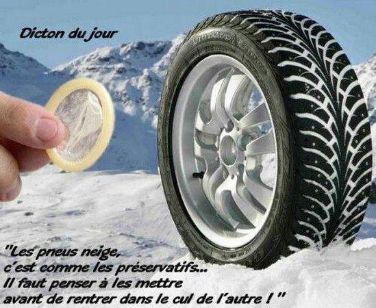 Humour - Pneus neige