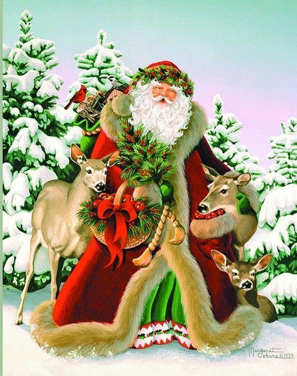 Arrière Plan - Père Noël et ses rennes