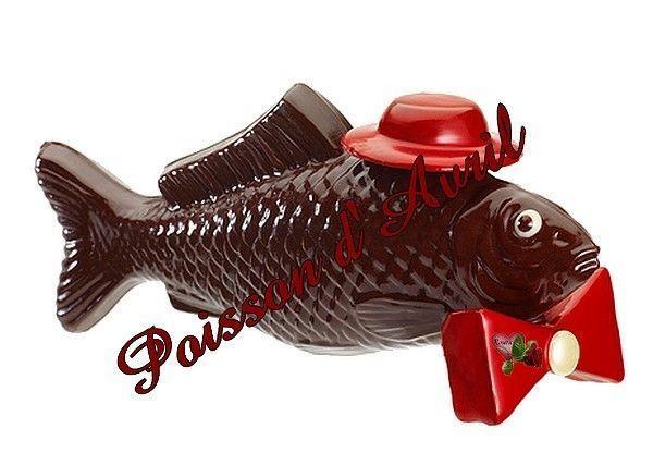 """Résultat de recherche d'images pour """"poisson d'avril en chocolat"""""""