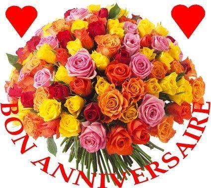 Relativ Anniversaire - Bouquet de roses et coeurs DP99