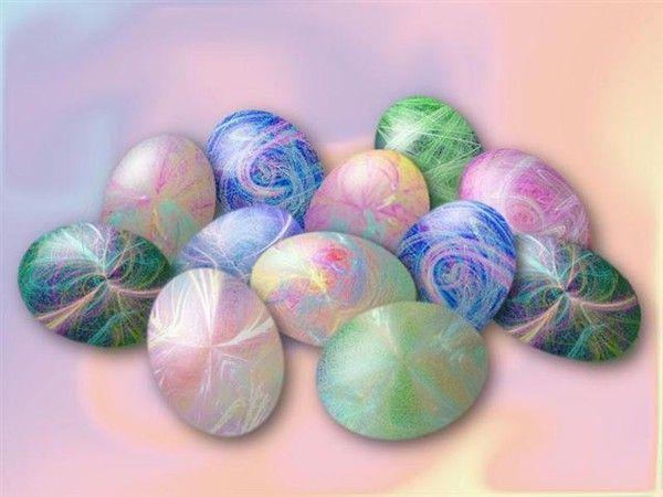 Arrière plan Pâques - Oeufs couleur