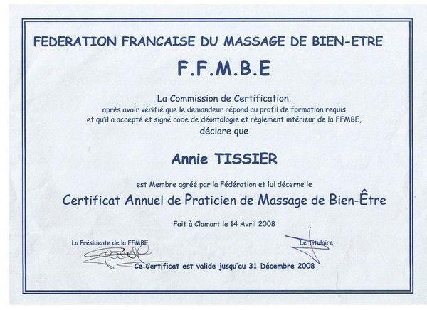 certificat modele