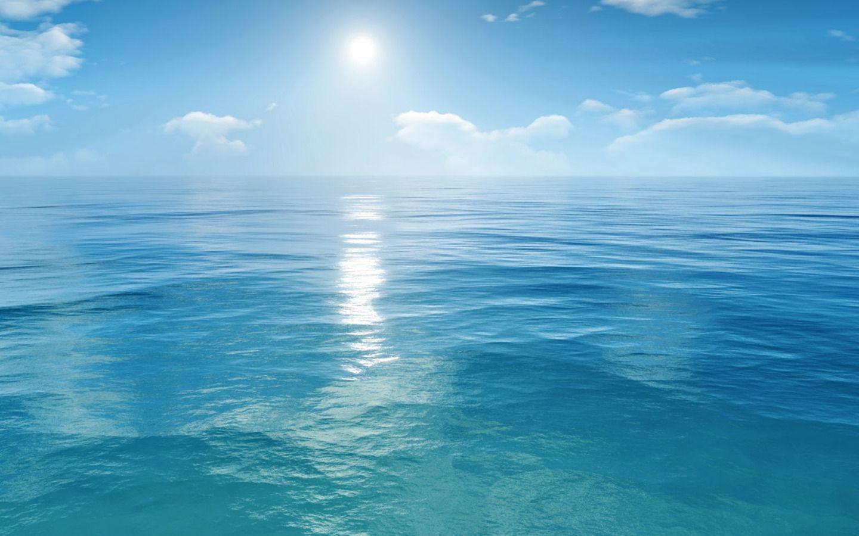 Paysage - ciel, mer bleue