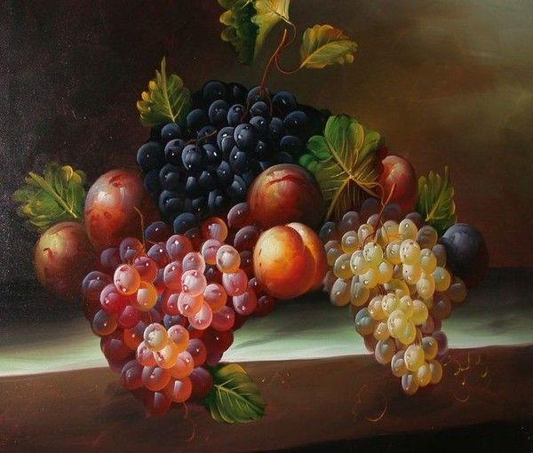 Aliments Fruits - Raisins, pêches