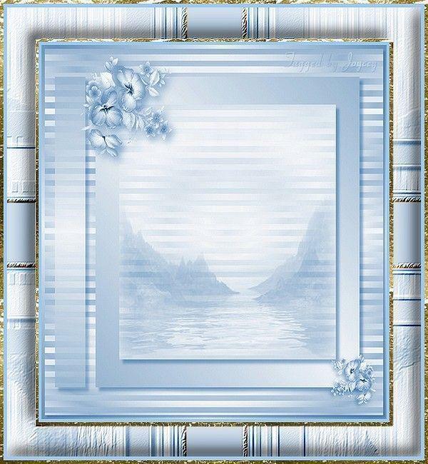 Cadre bleu pâle