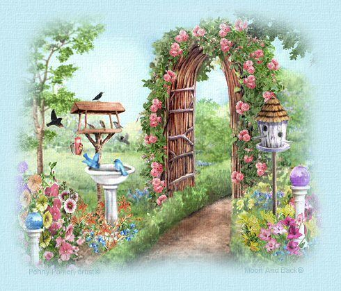 Fleurs paysage entr e jardin arc de cercle for Paysage de jardin