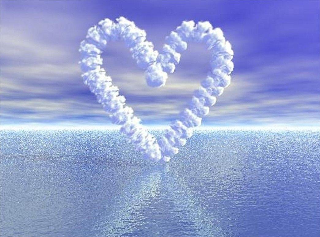 Fond d écran coeur au dessus de la mer