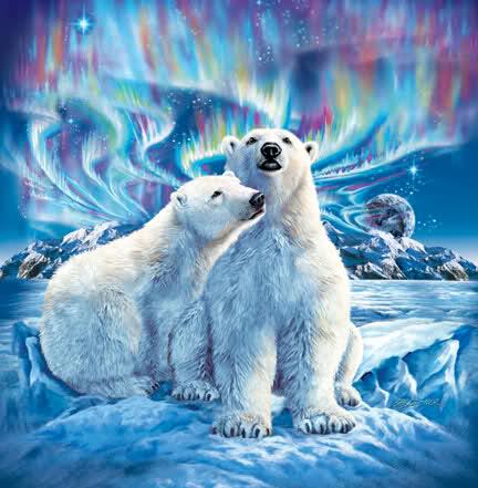 polar bear christmas painting